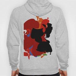 Red Black Forest Colorful Abstraction Digital Art - RegiaArt Hoody