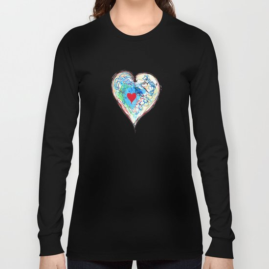 scribble heart Long Sleeve T-shirt