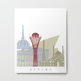 Astana skyline poster Metal Print