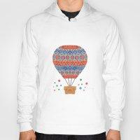 hot air balloon Hoodies featuring Hot Air Balloon by haidishabrina