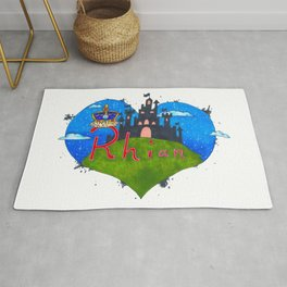 Rhian Word Art Rug