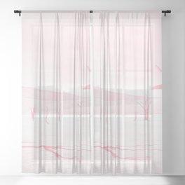 deadvlei desert trees acrpw Sheer Curtain