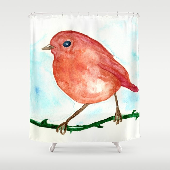 Redbreast Shower Curtain