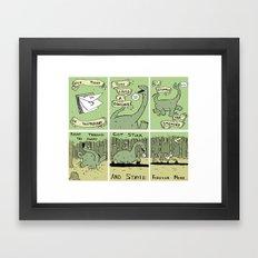 Dinosaur Poem Framed Art Print