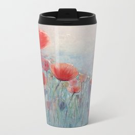 POPPY FIELDS Metal Travel Mug