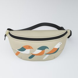 Birds on wire Fanny Pack