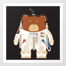 Oso Cosmonauta (Cosmonaute Bear) Art Print