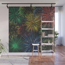 Fireworks in the Sky Wall Mural