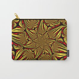 Golden and Red, Modern Fractal Art Design Carry-All Pouch
