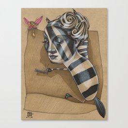 ZEBRA MAMA  Canvas Print