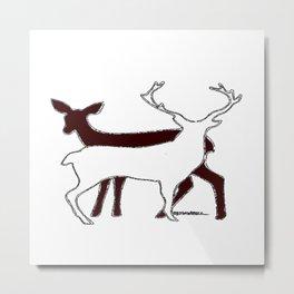 Deer Shadow Metal Print