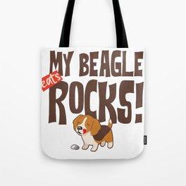 My Beagle Rocks Tote Bag