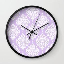 Purple Damask Wall Clock