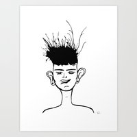 jay fleck Art Prints featuring Jay by Ivana Quesada