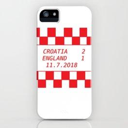 Croatia vs. England iPhone Case