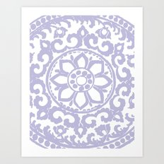 Flower Ornament Lilac Art Print