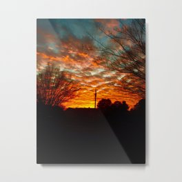 Pretty Florida Fiery Sunset Metal Print
