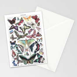 Papillons - Adolphe Millot/Larousse Butterflies Stationery Cards