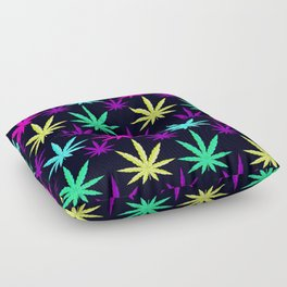 Colorful Marijuana Weed cool tone Floor Pillow