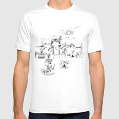 Dancing with me :) Mens Fitted Tee MEDIUM White