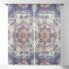 Colorful Mandala Pattern 007 Sheer Curtain