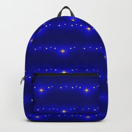 Blue Starlight Magic Glow, Christmas and Holiday Fantasy Collection Backpack