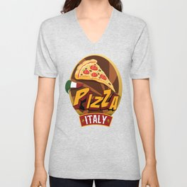 Pizza Italy / Support Pizza / Foodietoon Unisex V-Neck