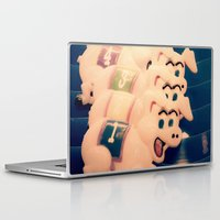 pigs Laptop & iPad Skins featuring Carnie Pigs by maybesparrowphotography