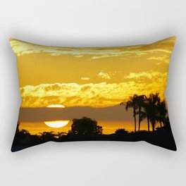 Telephoto Sunset in the Back Bay Rectangular Pillow