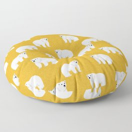 Polar Bear pattern cute animals print for kids room decor boys and girls nursery Floor Pillow