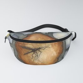 Amber Inclusion Watercolor Fanny Pack