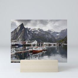 Lofoten Islands, Norway Mountain Landscape Mini Art Print