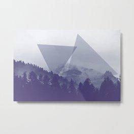 Blue Mountain Geometry Metal Print