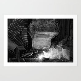 Welder works Art Print