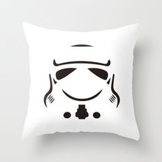 Stormtrooper so serious Throw Pillow