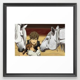 She's just saying hi Framed Art Print