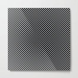 Black and Glacier Gray Polka Dots Metal Print