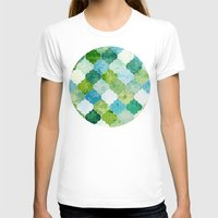 moroccan T-shirts featuring Emerald Moroccan by MirKat Design