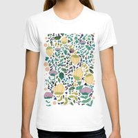 flower pattern T-shirts featuring Flower Pattern by Jo Cheung Illustration