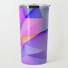 Pink Geometric Pattern Travel Mug