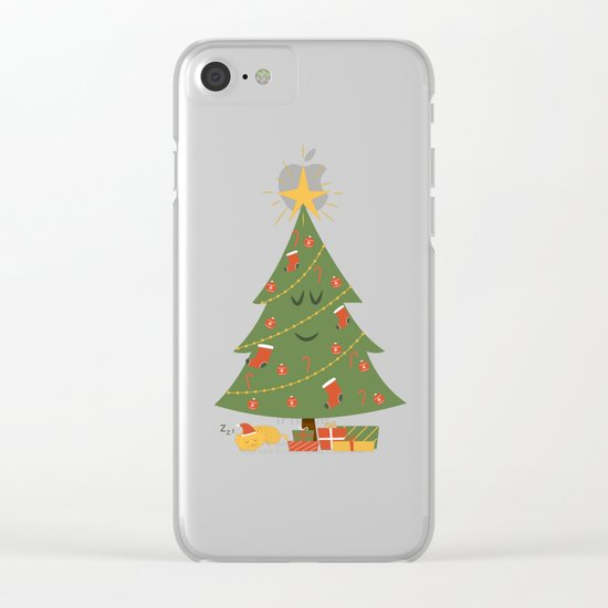 The Tree and the Cat Clear iPhone Case