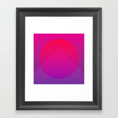 Neon Rise Framed Art Print