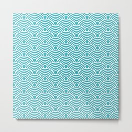 Retro Geometric Fan Pattern 540 Metal Print