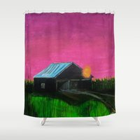 twilight Shower Curtains featuring Twilight  by Ric Soens