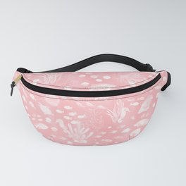 Watercolor Seascape in Pink Fanny Pack