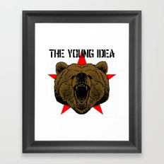 The Young Idea - Grizzly Logo Framed Art Print