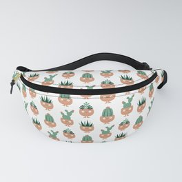 Cute terracotta pots with succulent hairstyles Fanny Pack