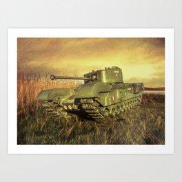 Churchill Tank Art Print