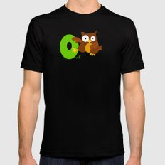 o for owl MEDIUM Mens Fitted Tee Black