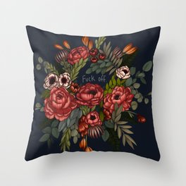 To Whomever it May Concern: Fuck Off Throw Pillow